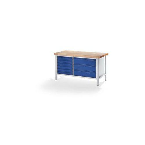 Rau Stół warsztatowy, stabilny,6 szuflad w rozmiarze l, 3 szuflady w rozmiarze xl