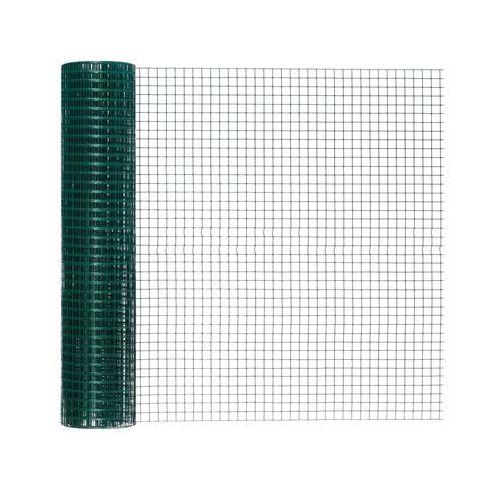 Siatka hodowlana zgrzewana 1 x 5 m zielona metalowa powlekana PVC (3276005170100)