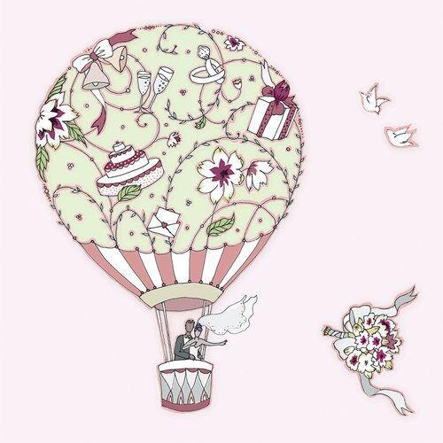 Karnet Swarovski kwadrat CL1901 Ślub balon (5060481572682)