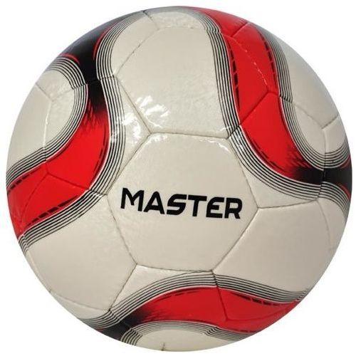 Axer sport Piłka nożna master biało-czerwona (rozmiar 5) (5901780920678)