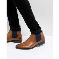ramson leather chelsea boots in tan - tan marki Base london