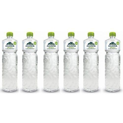 ZESTAW 6 szt - Woda źródlana alkaliczna niegazowana 6 x 1L - Aquavia