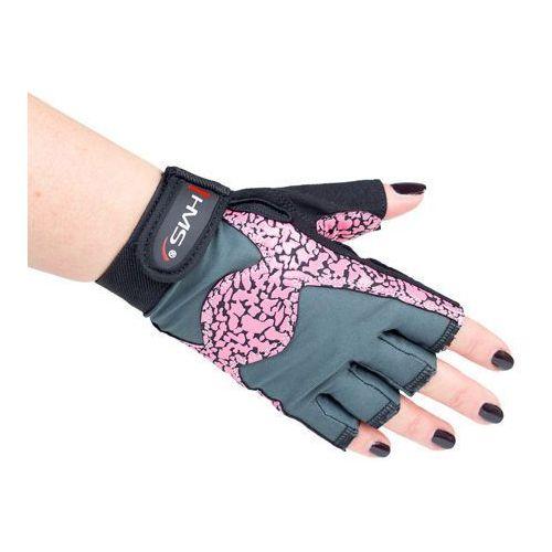 Hms rst03 pink/gray - 17-63-221 - rękawice na siłownie, rozm. m - m