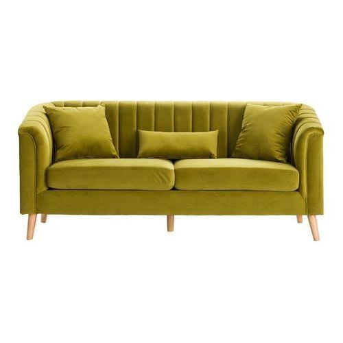 Dekoria Sofa Meriva Velvet moss green 3-os., 200×80×85cm