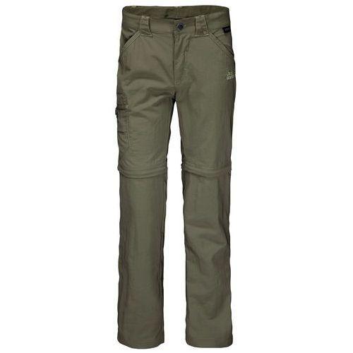 Jack wolfskin Spodnie safari zip off pants k woodland green - 104