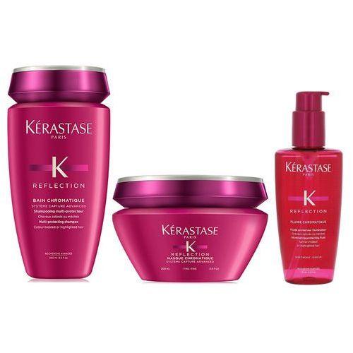 Kerastase Chromatique | Zestaw do włosów cienkich i farbowanych: kąpiel 250ml + maska 200ml + fluid 125ml