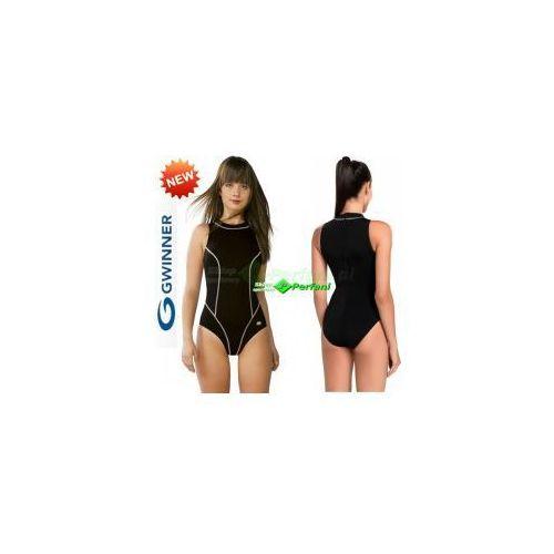 OTYLIA strój kąpielowy pływacki chloroodporny czarny gWINNER + Czepek   WYSYŁKA 24h, SK30
