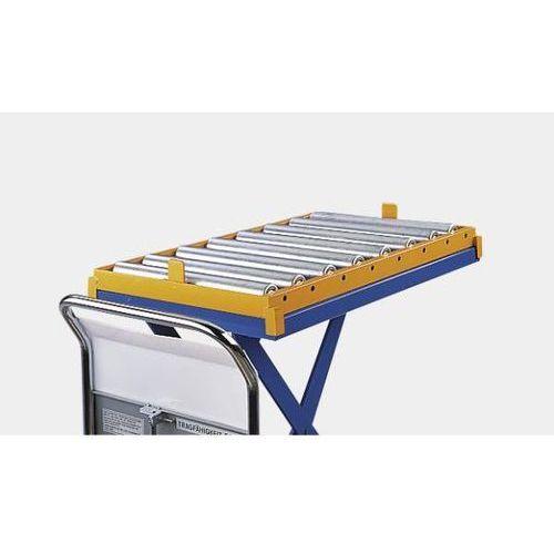 Seco Przenośnik rolkowy do nożycowego stołu podnośnego, szer. 572 mm, sztywne. ładune