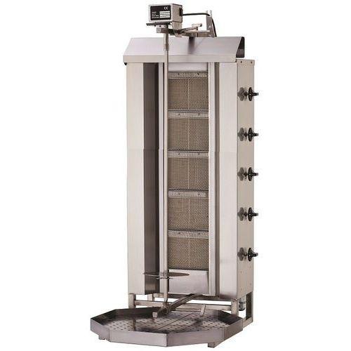 Gyros   opiekacz gazowy do kebaba   5 palników   wsad 80kg KLG 222