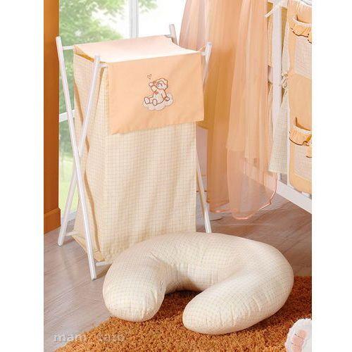 kosz na bieliznę śpioch na chmurce brzoskwiniowy marki Mamo-tato