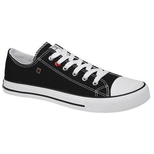 Kultowe trampki t174103 czarne - czarny ||biały marki Big star