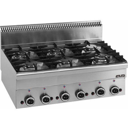 Kuchnia gazowa 6-palnikowa stołowa | 3x 2,7 kW + 3x 3,15 kW | 17,55 kW