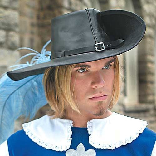Skórzany kapelusz muszkieterów czarny marki Płatnerze