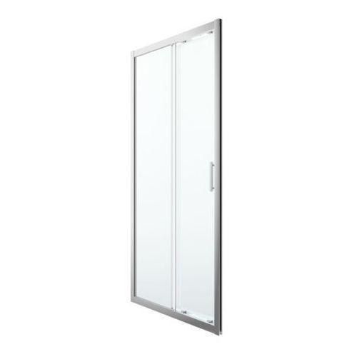 Drzwi prysznicowe przesuwne GoodHome Beloya 100 cm chrom/transparentne, K597AC