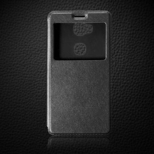 Flip Leather Czarny | Etui z klapką dla Huawei Honor 5X - Czarny, kolor czarny