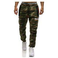 Spodnie męskie dresowe joggery multikolor Denley 3781B
