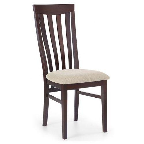 Krzesło drewniane carter - ciemny orzech marki Elior.pl