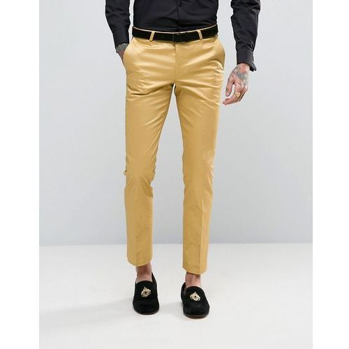 super skinny suit trousers in metallic - gold od producenta Noose & monkey