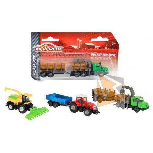 Majorette Małe pojazdy farmerskie, 3 rodzaje (3467452038109)
