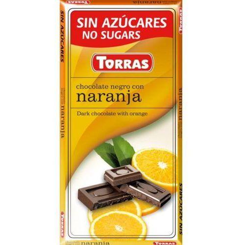 Torras Czekolada gorzka z pomarańczami bez cukru 75g