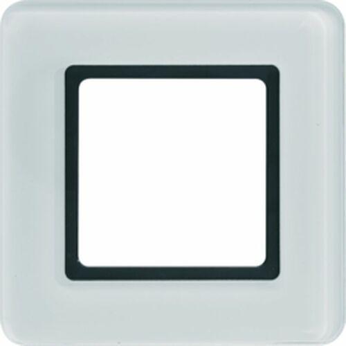 Q.7 Ramka 1-krotna do modułu podświetlenia LED, szkło, białe 10116179, kolor biały