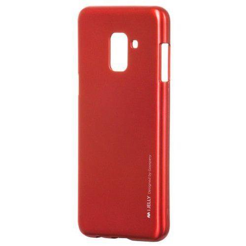 Etui Mercury Goospery I-Jelly żelowe Samsung Galaxy A8 2018 A530 czerwone, kolor czerwony