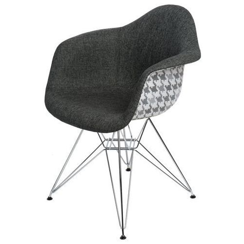 Krzesło p018 dar pattern szare/pepitka modern house bogata chata marki D2.design
