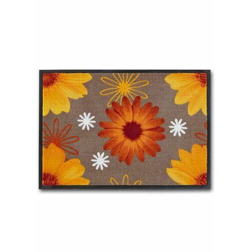 Wycieraczka z motywem kwiatów bonprix terakota