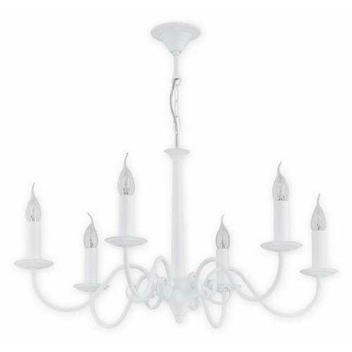 Lemir Asti O2896 W6 Bia lampa wisząca zwis 6X60W E14 biały matowy