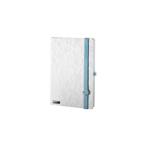 Lediberg Notes a6 lanybook innocent passion w linie biały z niebieską gumką, kategoria: notesy