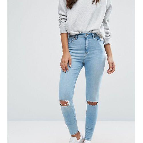 Asos tall  ridley skinny jean in felix wash - blue