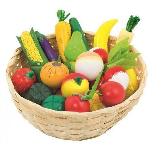 Goki Drewniane owoce i warzywa w koszyku 21szt.