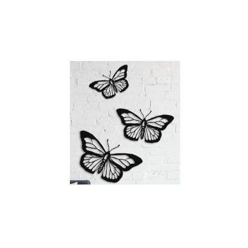Decoartimo Metalowa dekoracja ścienna motyle