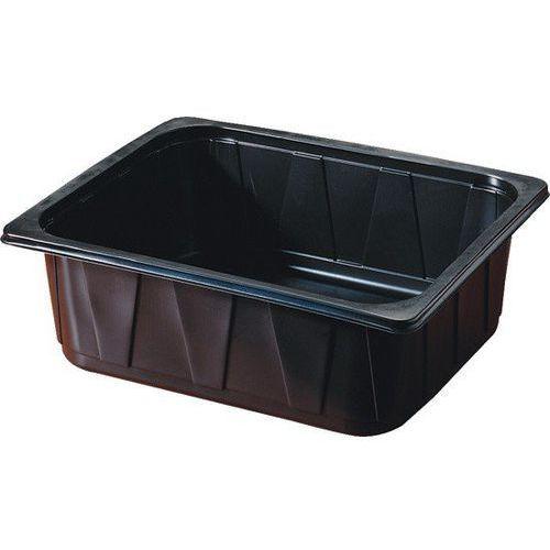 Pojemnik plastikowy 1/2 GN   czarny   325x265x100 mm   92szt. (pojemnik gastronomiczny)