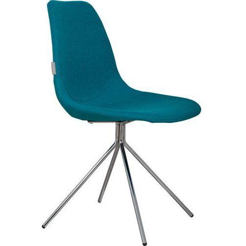 Zuiver krzesło fourteen up chromowane/niebieskie 1100202