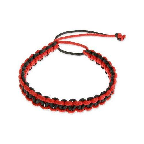 Jubileo.pl Bransoleta czarno czerwona emo hippie kolor czarny kolor czerwony
