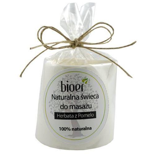 Naturalna Świeca Shea do Masażu - Herbata z Pomelo - 130ml - Bioer