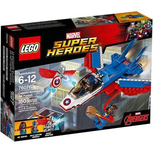 76076 ODRZUTOWIEC KAPITANA AMERYKI (Captain America Jet Pursuit) - KLOCKI LEGO SUPER HEROES