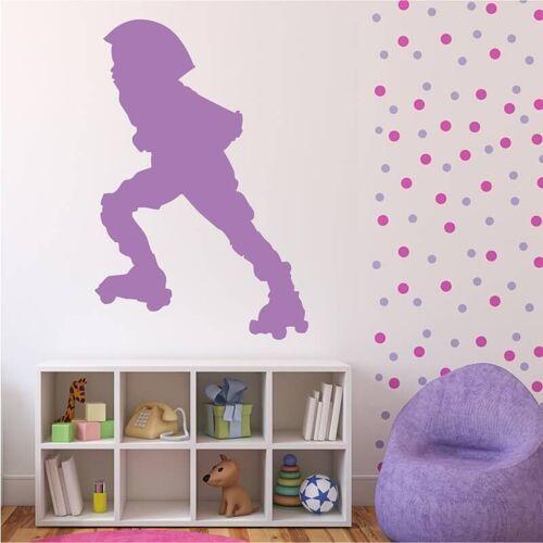 Szablon na ścianę dziecko na wrotkach 2543 marki Wally - piękno dekoracji
