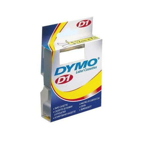 taśma do letra tag papierowa 12mmx4m, czarny/biała marki Dymo