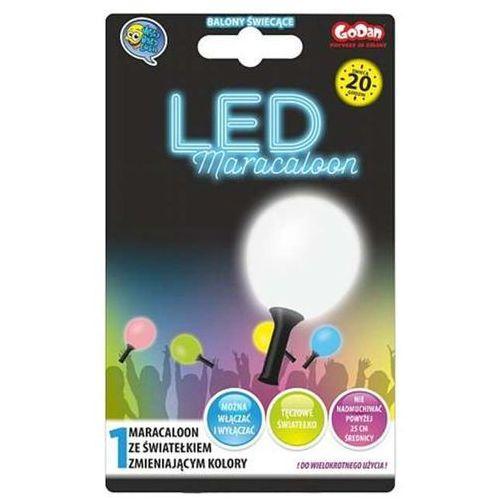 Maracaloon, balon biały, dioda LED tęczowa