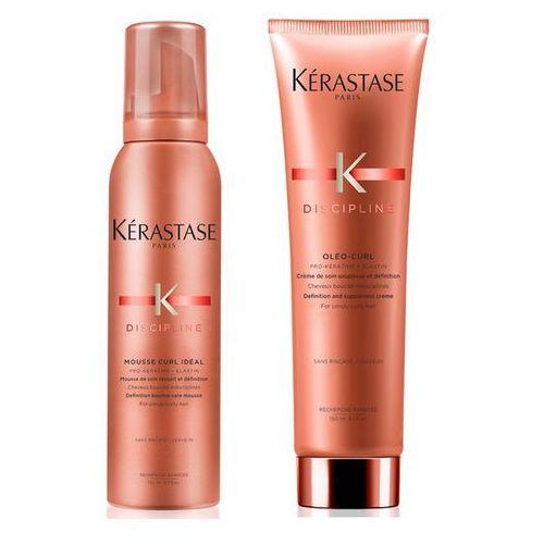 curl ideal | zestaw do włosów kręconych: pianka do loków 150ml + krem do włosów kręconych 150ml marki Kerastase
