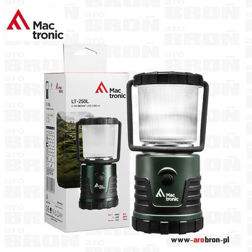 Lampa kempingowa Mactronic LT-250L - latarka turystyczna - czas pracy do 9 dni, 250 lumenów