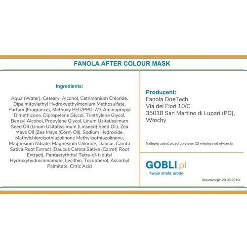 FANOLA_After Colour Colour-Care Mask maska do włosów farbowanych 500ml, 14026