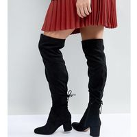 wide fit pull on over the knee boots - black, Aldo