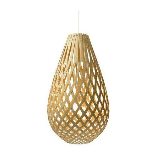 KOURA-Lampa wisząca Drewno Wys.50cm, Koura Bois Naturel H50cm