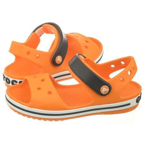 Crocs Sandałki crocband sandal kids blazing orange/slate grey 12856-82n (cr39-j)