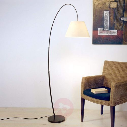 bambus arco lampa stojąca czarny, brązowy, 1-punktowy - nowoczesny - obszar wewnętrzny - arco - czas dostawy: od 2-3 tygodni marki Holländer