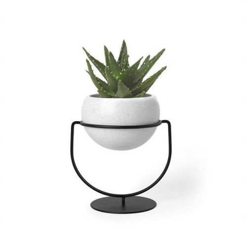 doniczka nesta biała - metal, ceramika marki Umbra