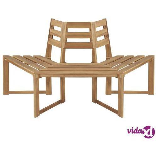 Vidaxl ławka pod pień drzewa, 160 cm, lite drewno akacjowe (8718475614890)